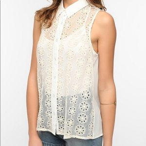 Urban Outfitters Pins and Needles Sheer Lace Blous